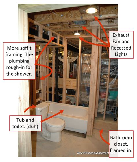 how to add bathroom to basement bathroom costs 30 of your budget i finished my basement