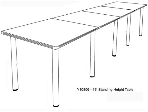 standing height conference tables in white mocha maple