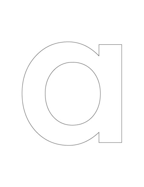 Lowercase A Coloring Page free coloring pages of lowercase letter f