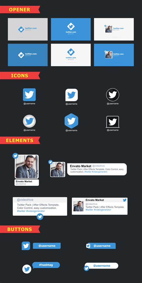 twitter pack corporate after effects templates f5