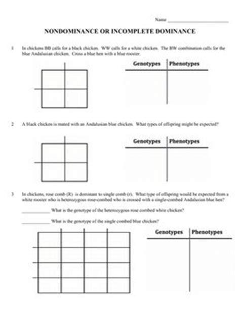 Genetics Practice Problems Pedigree Tables by Punnett Square Practice Worksheet Answer Key Davezan