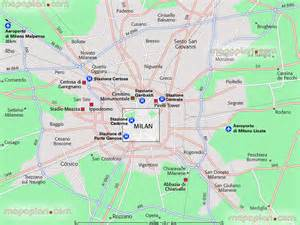 Map Of Milan Italy by Map Of Milan Italy Attractions Bing Images