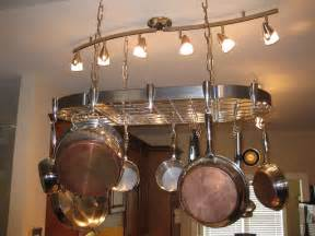 kitchen island with hanging pot rack pin by sydney katschke on i just want to decorate my house pintere