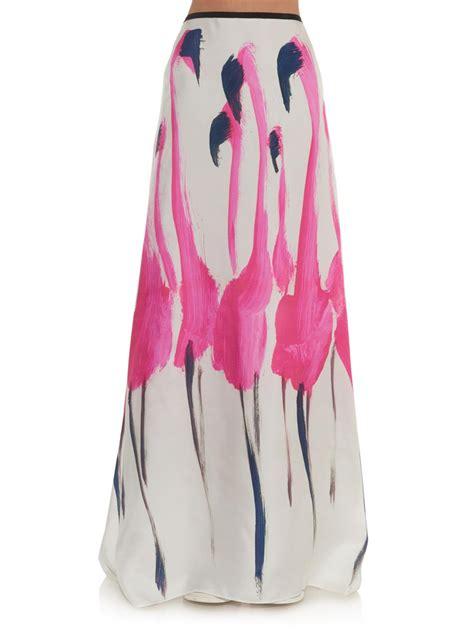 Flamingo Maxi flamingo print skirt