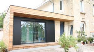 extension agrandissement de en bois design