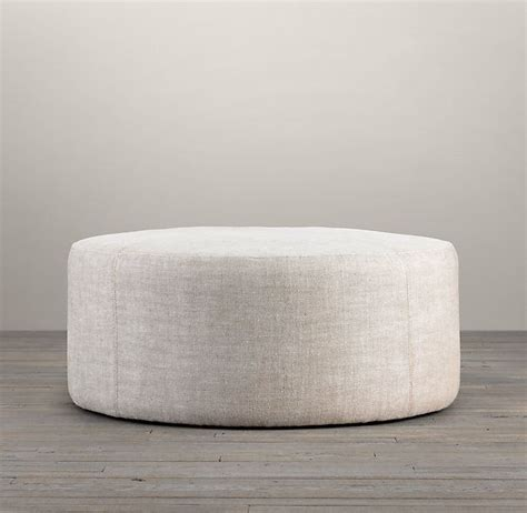 upholstered round ottoman 36 quot cooper upholstered round ottoman furniture
