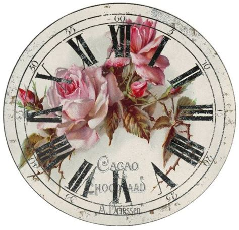 Decoupage Clock - 251 best decoupage clocks images on