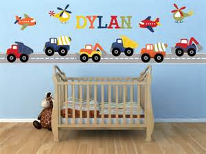 Construction Wall Stickers Truck Wall Decal Name Decal Construction Truck Decal