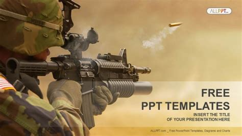 army powerpoint template submachine gun powerpoint templates