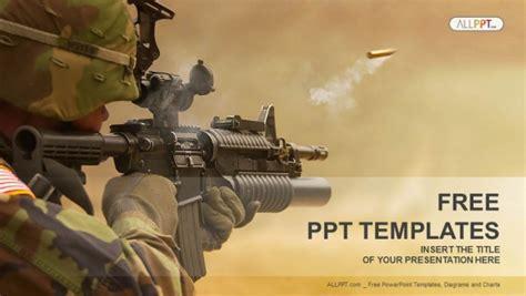 Submachine Gun Military Powerpoint Templates Army Powerpoint Templates