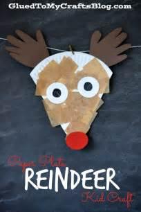 crafts reindeer paper plate reindeer kid craft