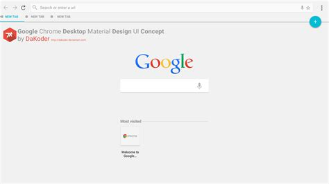 Material Design Google Desktop | google chrome desktop material design ui concept by