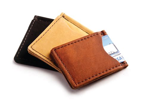 rustic leather money clip in choice of high quality