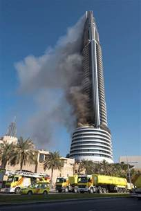 tower address huge skyscaper fire in dubai near new year s eve fireworks display telegraph