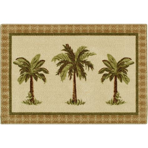 palm tree throw rugs colonial mills br54r024x144 boca raton federal blue 2 ft x 12 ft rug walmart