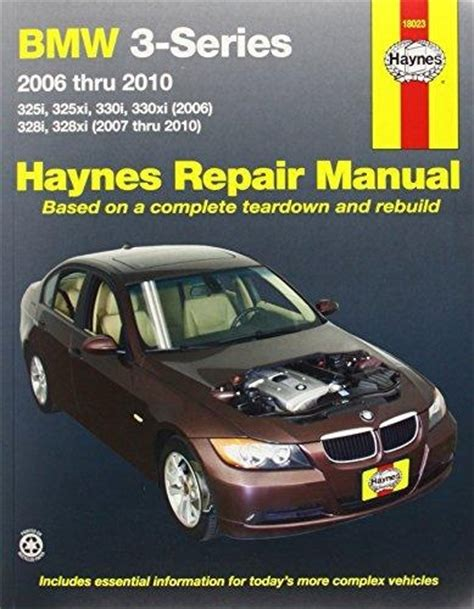 haynes repair manual bmw 3 series 325i 328i 330i 2006 2010 pelicanparts com