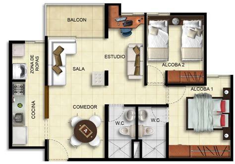 apartamentos con planos de departamentos de 70m2