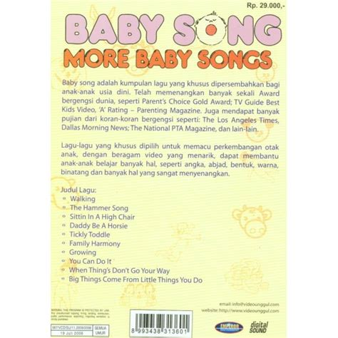 Vcd Original Baby Songs Animals vcd baby songs more baby songs unggul