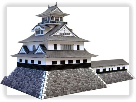 Papercraft Architecture - nagahama castle papercraft japanese architecture model kit