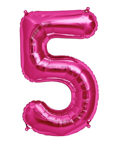 Pink Foil Balloon Z foil balloon number 5 pink glnzende air and helium balloons karneval universe