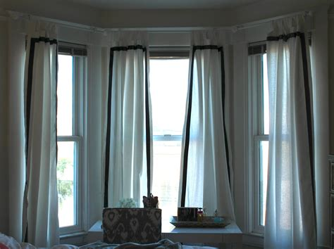 bay window curtain ideas modern bay window curtain ideas