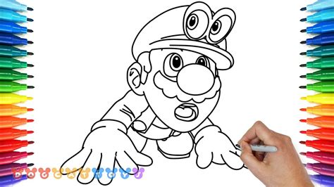 coloring pages mario odyssey how to draw super mario odyssey 16 drawing coloring