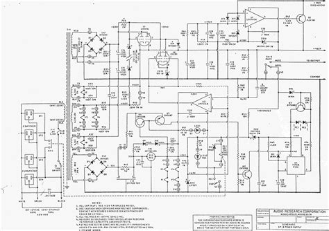 audio research sp preamplifier power supply circuit