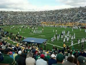 Notre Dame Stadium Sections by Notre Dame Stadium Section 22 Row 31 Seat 17 Notre Dame