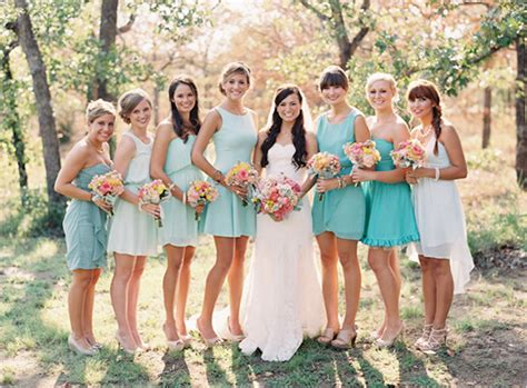 Teal Bridesmaid Dresses Dressed Up