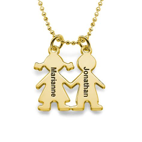 holding charms necklace gold plated