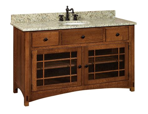 amish bathroom vanities amish 60 quot lucern mission single bathroom vanity cabinet