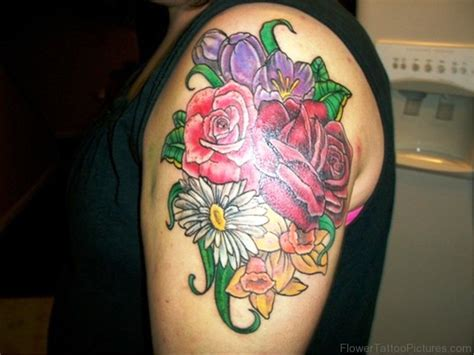daffodil and rose tattoo 94 dazzling daffodil flower tattoos