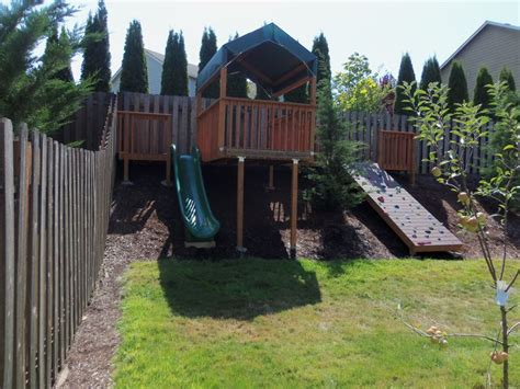 backyard play area ideas best 25 sloped backyard ideas on
