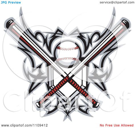 clipart tribal baseball home plate with crossed bats and