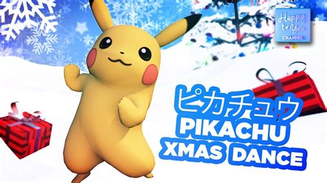 pikachu xmas pokemon dance merry christmas  happy toyou youtube