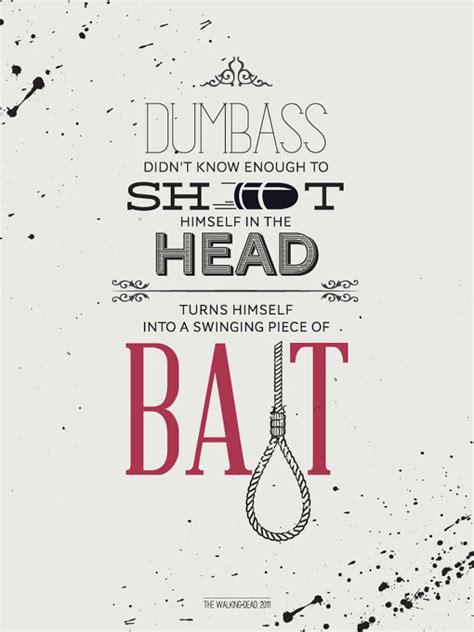 typographic posters  zombie film quotes
