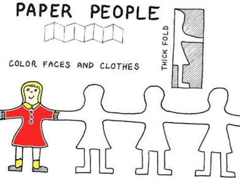 How To Fold And Cut Paper Dolls - best 25 paper doll chain ideas on paper
