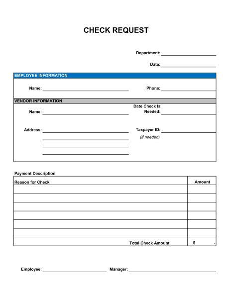 check request form template sle form biztree com