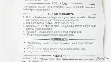 Obat Jerawat Acnol acnol lotion 10 ml update daftar harga terbaru indonesia