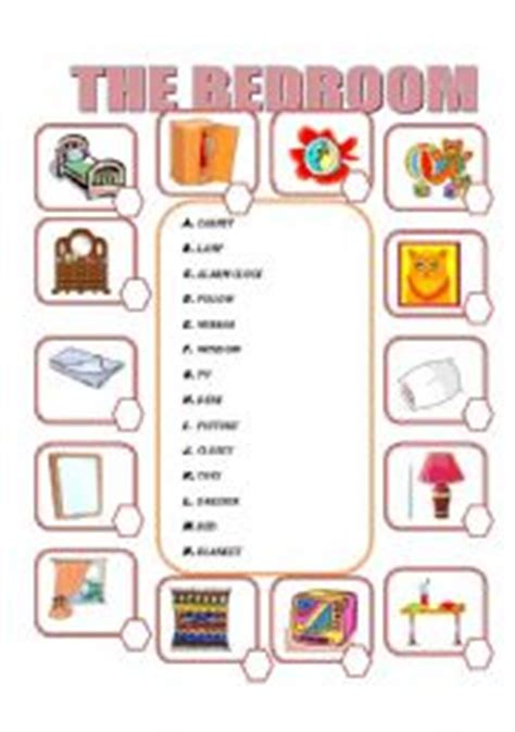 Bedroom Objects Teaching Worksheets The Bedroom