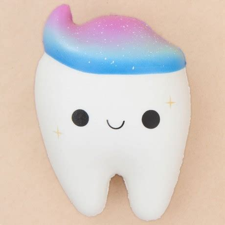 Squishy Gigi I Teeth Licensed white tooth with galaxy toothpaste squishy by cutie