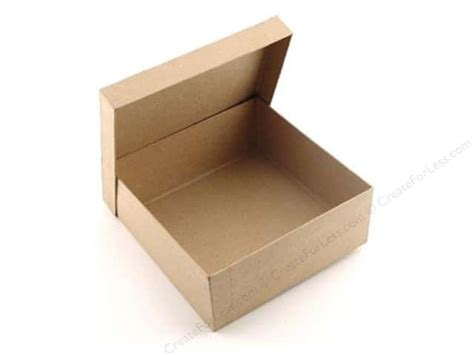 Craft Paper Boxes - paper mache square box 7 1 2 in by craft pedlars