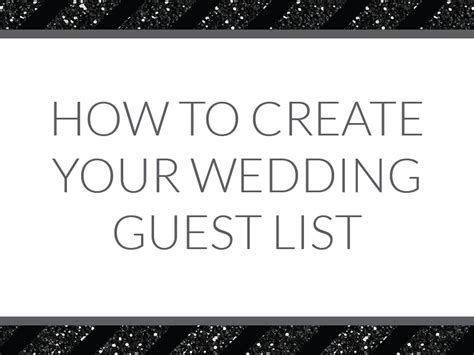 how to make a wedding guest list on excel how to create your wedding guest list