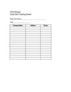 cold calling template phone call tracker excel