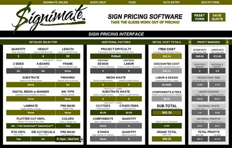 boat lettering prices signimate tm sign pricing software tutorials