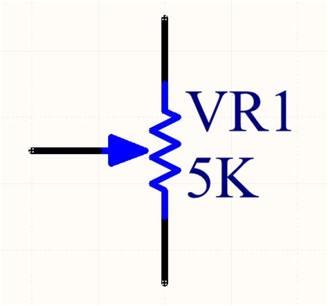 schematic symbol for variable resistor component designators mbedded