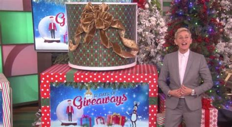 Ellen 13 Day Giveaway - ellen degeneres continues her 12 days of giveaways throughout december empty