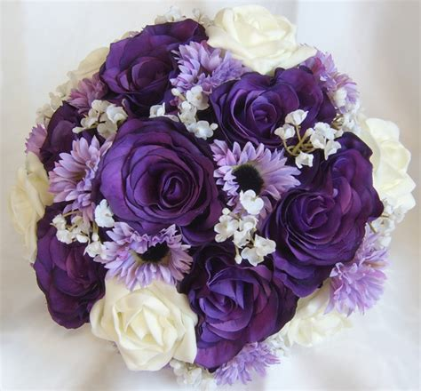 Wedding Flowers Purple by Oo1 Beautiful Purple Bouquets Peace Wedding Ideas