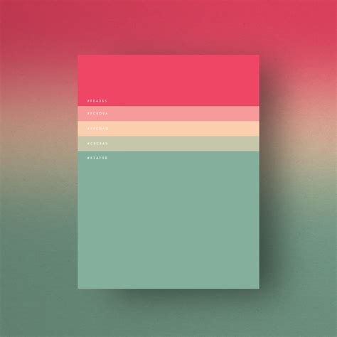 fun colors minimalist color palette posters collection when you think
