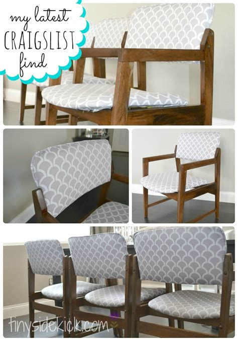 How To Reupholster Dining Room Chairs With Piping by Reupholstering Vintage Dining Chairs Tiny Sidekick Thediydreamer